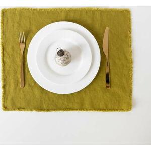 Zelené lněné prostírání Linen Tales Classic,40x35cm