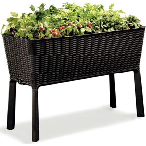 Hnědý zahradní květináč s podnožím Keter Easy