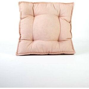 Světle růžový polštář s příměsí lnu Surdic Square, 37 x 37 cm