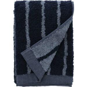Modrý ručník z froté bavlny Södahl Stripes, 100 x 50 cm