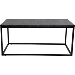 Černý žulový konferenční stolek s černým podnožím RGE Accent, délka110cm