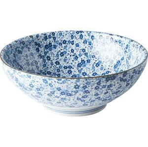 Modro-bílá keramická miska MIJ Daisy, ø21,5cm