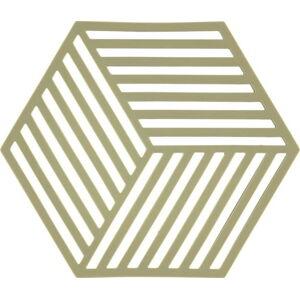 Zelená silikonová podložka pod horké nádoby Zone Hexagon