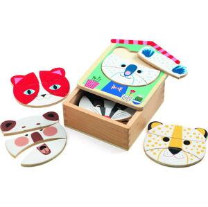 Dětské dřevěné puzzle v krabičce Djeco
