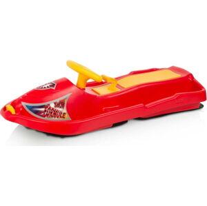Červený zimní bob s volantem Gizmo Snow Formule