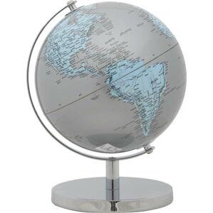 Dekorativní globus Mauro Ferretti Mappamondo Silver, ⌀ 20 cm