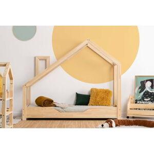 Domečková postel z borovicového dřeva Adeko Luna Bek,80x150cm