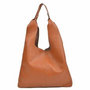 Koňakově hnědá kožená kabelka Sofia Cardoni