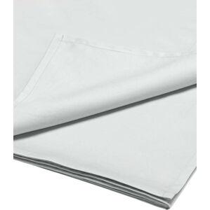 Bílé prostěradlo z bavlněného saténu Bianca Luxury, 230 x 260 cm