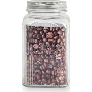 Skleněná dóza na kávu s nerezovým víkem Sabichi, 1,2l