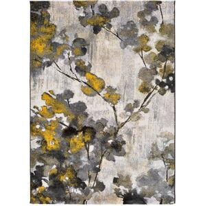 Žluto-šedý koberec Universal Bukit Mustard, 140 x 200 cm