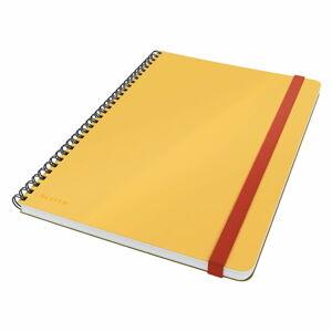 Žlutý kroužkový zápisník s hebkým povrchem Leitz, 80 stran