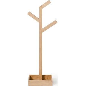 Stojan na osušky z dubového dřeva Wireworks Mezza Branch