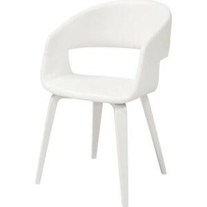 Bílá jídelní židle Interstil Nova