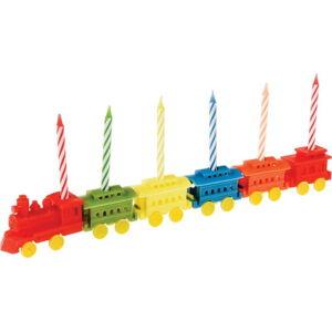 Sada 6 stojánků na dortové svíčky Rex LondonTrain