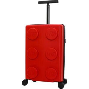 Červený dětský kufr na kolečkách LEGO® Signature 20