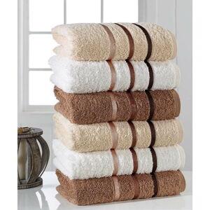 Sada 6 ručníků Pure Cotton Towel, 50 x 90 cm