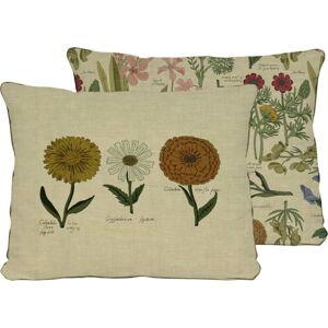 Oboustranný povlak na polštář s potiskem s příměsí lnu Surdic Flowers, 50 x 35 cm
