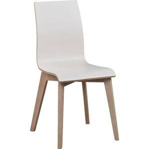 Bílá jídelní židle se světle hnědými nohami Rowico Grace