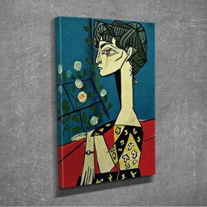 Nástěnná reprodukce na plátně Pablo Picasso Jacqueline with Flowers, 30 x 40 cm