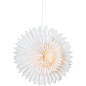 Bílá vánoční závěsná světelná dekorace Markslöjd Solina,výška45cm