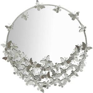 Nástěnné zrcadlo ve stříbrné barvě Mauro Ferretti Round Silver, ø 91 cm