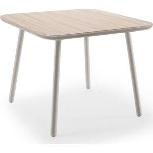 Jídelní stůl z jasanového dřeva s šedými nohami EMKO Naïve