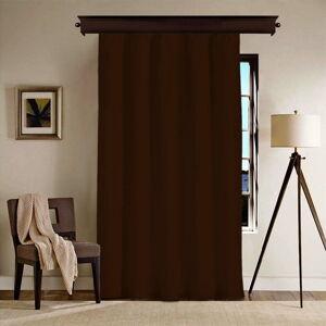 Tmavě hnědý závěs Curtain Nero, 140 x 260 cm