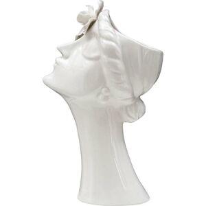 Bílá porcelánová váza Mauro Ferretti Woman Purity