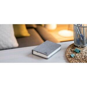 Šedá malá LED stolní lampa ve tvaru knihy Gingko Booklight