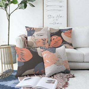 Sada 4 povlaků na polštáře Minimalist Cushion Covers Abe,55 x 55 cm