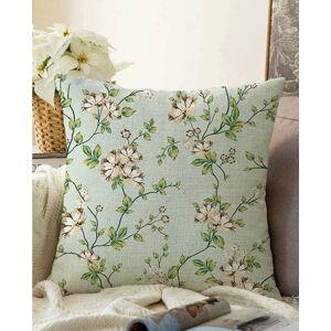 Zelený povlak na polštář s příměsí bavlny Minimalist Cushion Covers Blooming,55x55cm