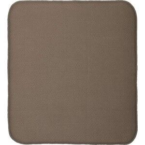 Hnědá podložka na umyté nádobí iDesign iDry,18x16cm