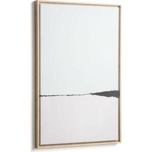 Bílý obraz v rámu La Forma Abstract, 60 x 90 cm