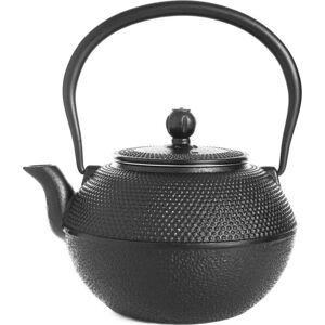 Černá litinová čajová konvice Tasev Linden, 1,2l