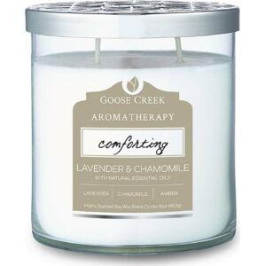 Vonná svíčka ve skleněné dóze Goose Creek Lavender & Camomile, 60 hodin hoření