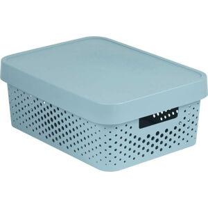 Šedý úložný box CURVER Simpla Lungo Holes