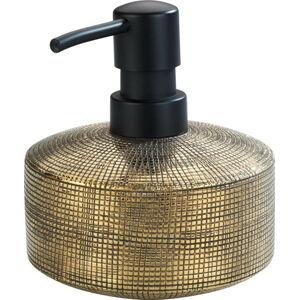 Keramický ručně malovaný dávkovač na mýdlo ve zlaté barvě Wenko Rivara, 400ml