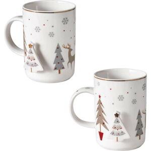 Sada 2 porcelánových hrnků s vánočním motivem Brandani Fiocco