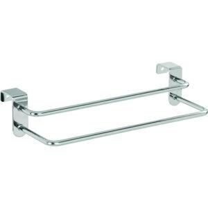 Závěsný držák na utěrky iDesign Metalo, 27x14cm