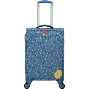 Modré zavazadlo na 4 kolečkách Lollipops Rubby