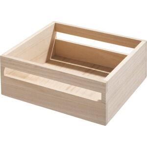 Úložný box ze dřeva paulownia iDesign Eco Handled,25,4x25,4cm