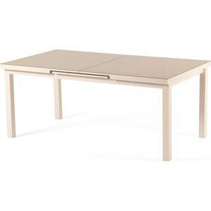 Šedobéžový rozkládací zahradní stůl pro 8-10 osob Ezeis Zephyr, délka 180/230 cm