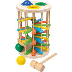 Dřevěná zatloukací kuličková hračka Legler Hammer