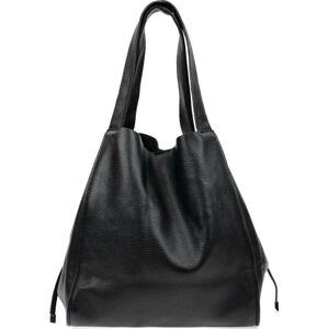 Černá kožená nákupní taška Isabella Rhea