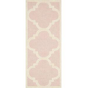 Růžový vlněný běhoun Safavieh Clark, 91x60 cm