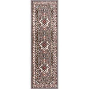 Šedý koberec Nouristan Parun Tabriz, 80 x 250 cm