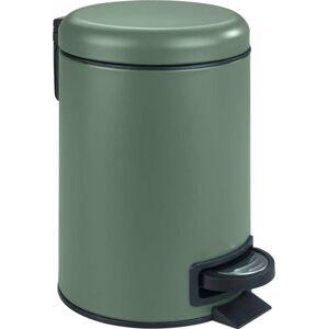 Zelený koš do koupelny Wenko Leman,3l