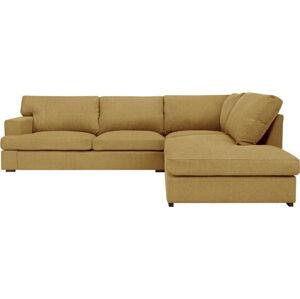 Hořčicově žlutá pohovka Windsor & Co Sofas Daphne, pravý roh