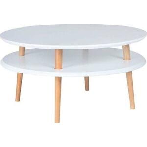 Bílý konferenční stolek Ragaba UFO,Ø70cm